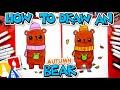 How To Draw An Autumn Bear