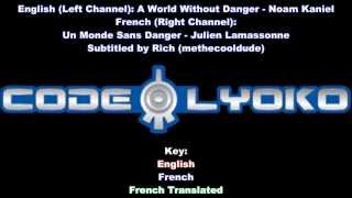 Code Lyoko Theme - English + French (Split Audio) - Lyrics