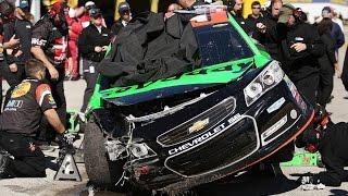 Danica Patrick Crash compilation #1! Why does she even drive? (I do not own these clips)