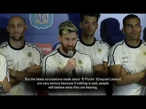Argentina will not speak with the press after Lavezzi accusations says Lionel Messi