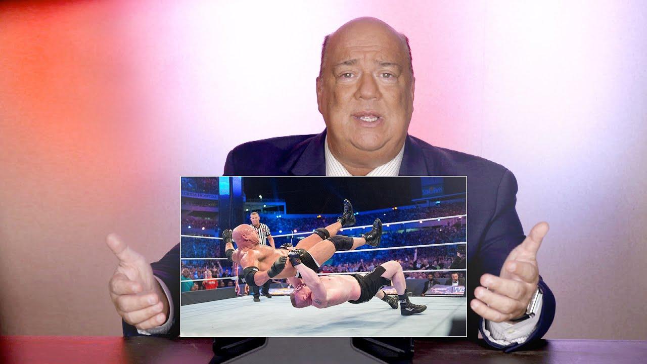 Download Paul Heyman rewatches Brock vs. Goldberg from WrestleMania 33: WWE Playback