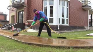 Как быстро заполнить швы тротуарной плитки ?Снежный человек(, 2015-10-15T16:57:06.000Z)