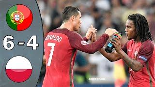 Portugal vs Poland 1 1 pen 5 3 UHD 4k EURO 2016 Full Highlights English Commentary