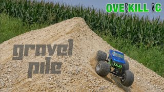 Axial SMT10 Takes a Shot at the Gravel Pile | Running Footage | Overkill RC