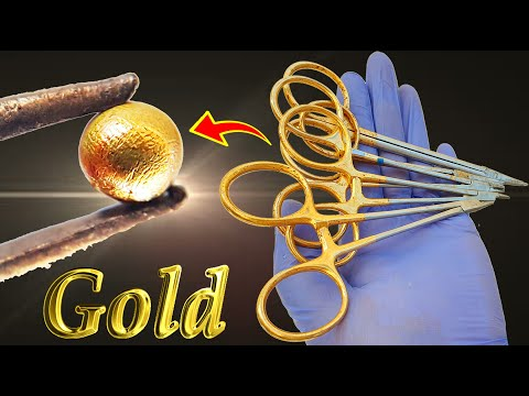 Gold recovery from waste medical equipment scissors