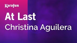 Karaoke At Last - Christina Aguilera *