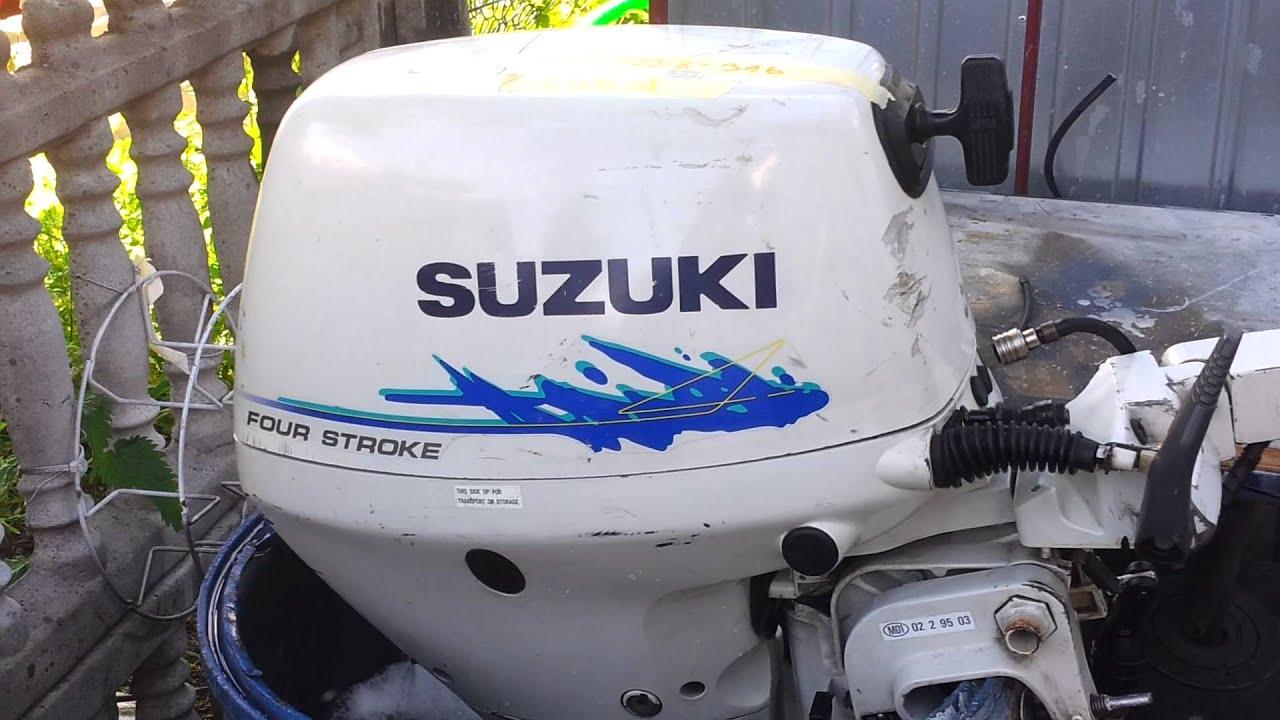 1998 suzuki 9.9 hp outboard motor 4-stroke ( 4-suw ) - youtube