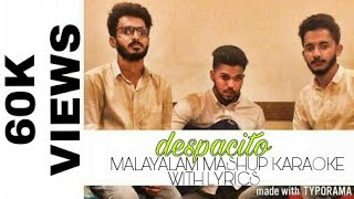 DESPACITO | MALAYALAM | MASHUP | KARAOKE WITH LYRICS | FARZEE Ft.