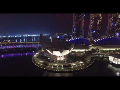 Dji Drone Phantom 3 Professional - Singapore Marina Bay Sand