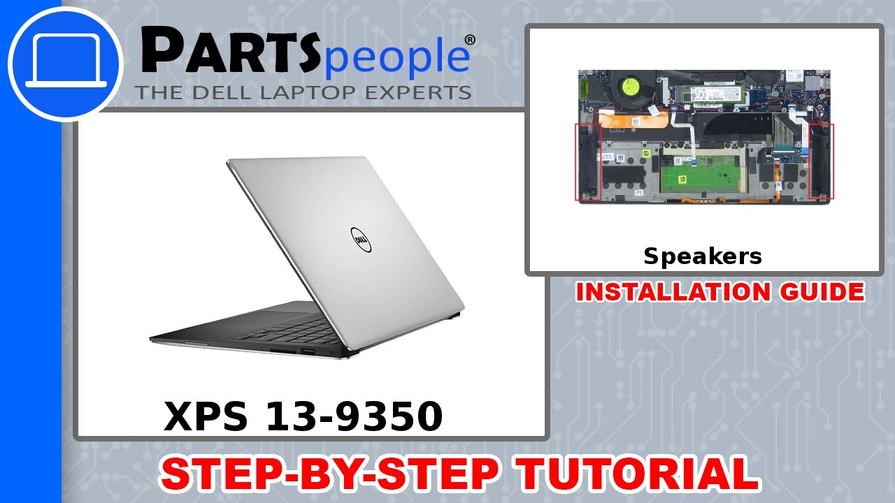 Dell Xps 13 9350 P54g002 Speakers How To Video Tutorial