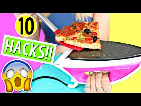 10 Life Hacks for LAZY College Students!! Back to Schoo ...