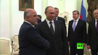 الرئيس الروسي فلاديمير بوتين يلتقي نظيره العراقي حيدر العبادي