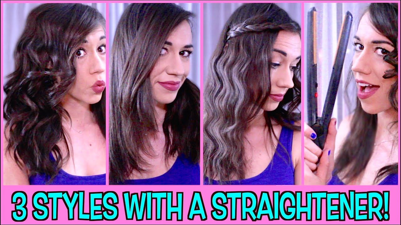 GET CURLS AND WAVES WITH STRAIGHTENER!