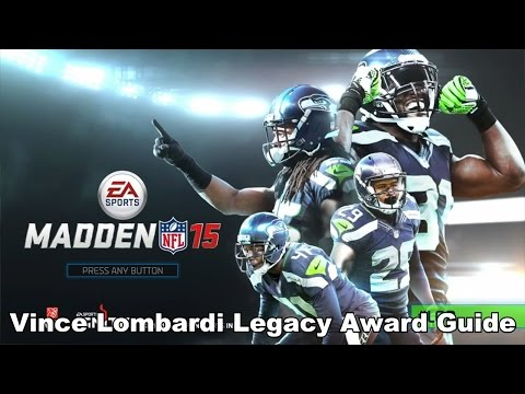 Madden NFL 15 - Vince Lombardi Legacy Award Guide