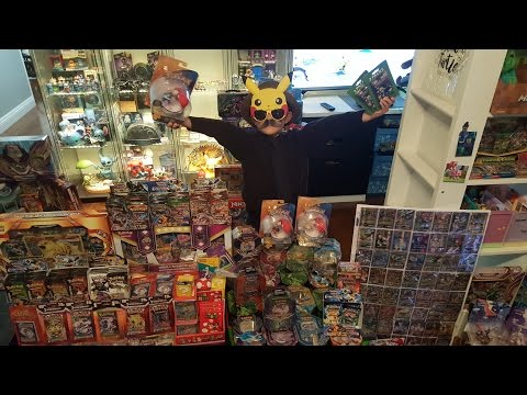 Opening New Sun And Moon Pokemon Toys And Minecraft Cards With Carl!!CARLS GRAND REOPENING!!!