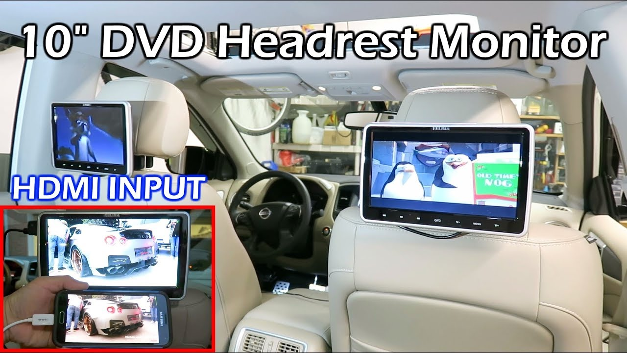 Install Dual 10 Car Dvd Headrest Monitors Youtube