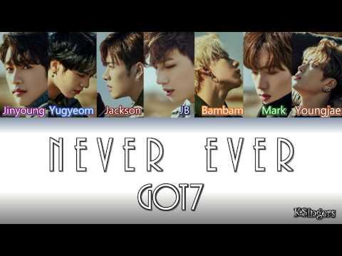GOT7 - Never ever | Sub (Han - Rom - Español) Color Coded Letra