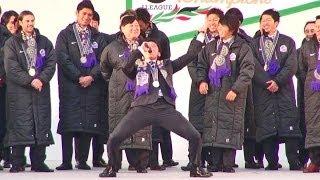 サンフレッチェ広島の優勝報告会が開催されました。http://tabetainjya....