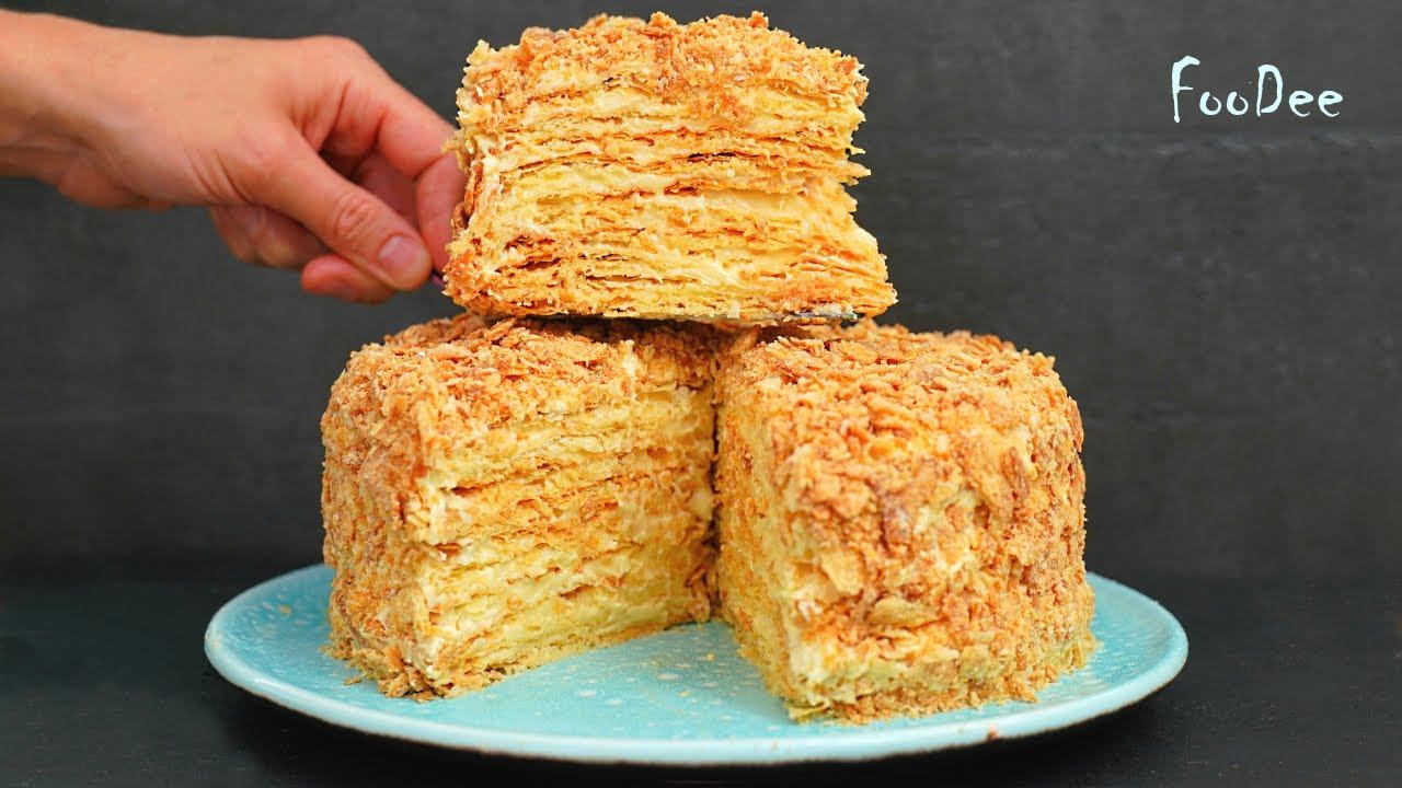 ИДЕАЛЬНЫЙ торт НАПОЛЕОН получается по этому рецепту! ОЧЕНЬ вкусный крем и слоистые коржи!