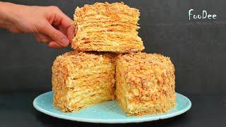 ИДЕАЛЬНЫЙ торт НАПОЛЕОН получается по этому рецепту ОЧЕНЬ вкусный крем и слоистые коржи
