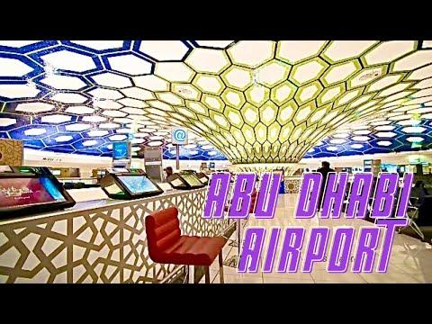 Inside Abu Dhabi International Airport Etihad Airways *HD*