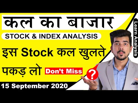 Best Intraday Trading Stocks for 15-September-2020 | Stock Analysis | Nifty Analysis | Share Market