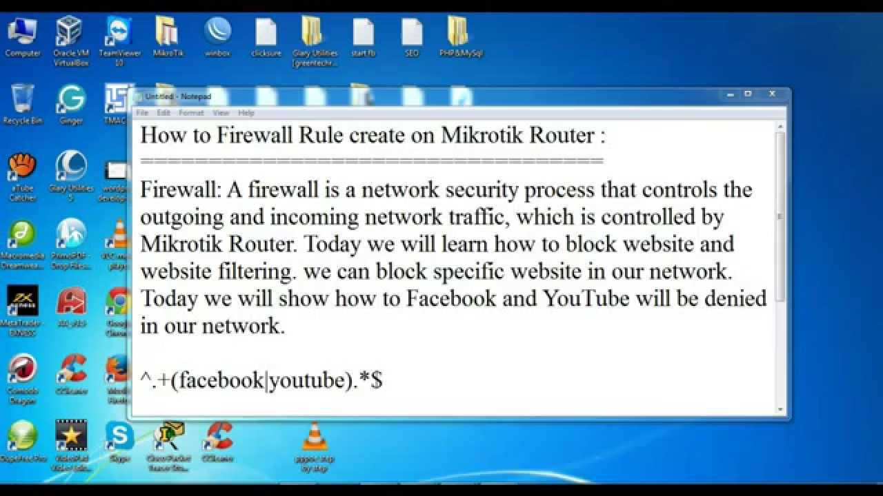 How to Firewall Rule create on Mikrotik Router