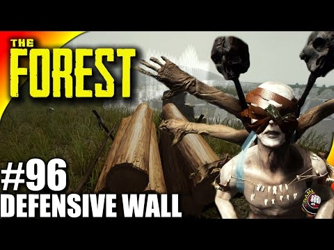 The Forest Gameplay EP96 - Defensive Wall, So Many Effigies - Let's Play S16EP96 (Alpha V0.42)