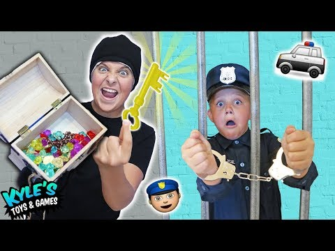 🚓 KID COP VS ROBBERS STEAL A MILLION DOLLAR TREASURE!