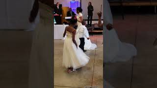 7 yr old Logan singing and dancing with bride