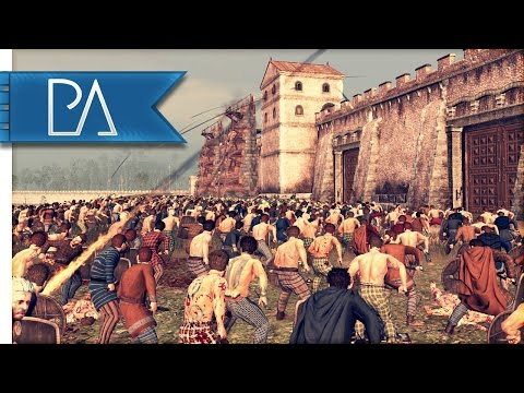 Epic Assault on Hadrian's Wall: Roman Defense - Ancient Empires Total War Mod Gameplay