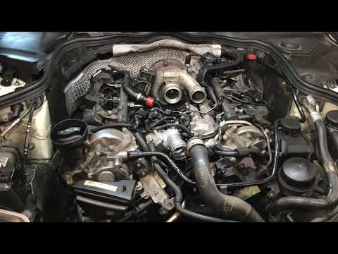 How to replace intake manifolds gaskets and oil cooler 2009 Mercedes E320 Bluetec PART 2
