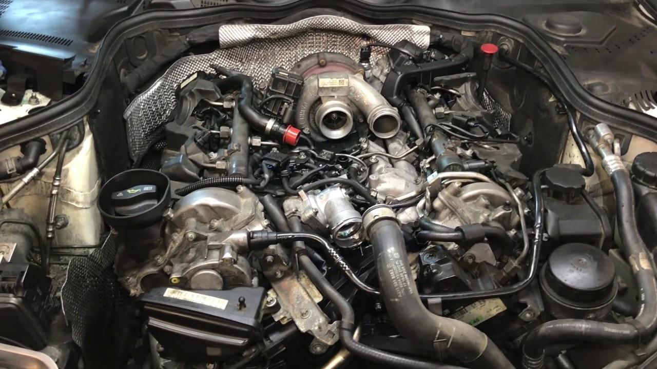 How To Replace Intake Manifolds Gaskets And Oil Cooler 2009 Mercedes E320 Bluetec Part 2 Youtube