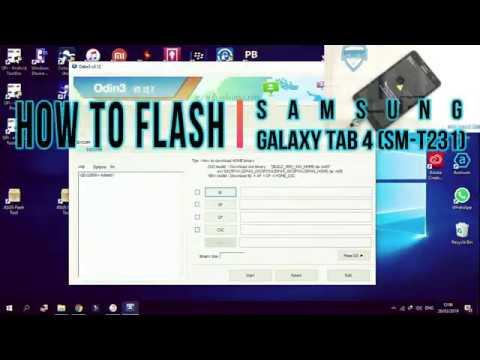 Cara Flash Samsung Galaxy Tab 4 (T231)