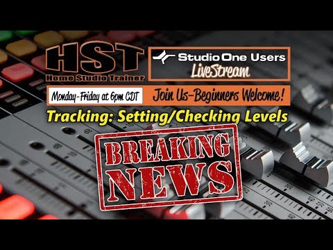 HST LiveStream: Tracking - Setting/Checking Levels [LATE BREAKING NEWS!!!]