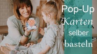 DIY Pop Up Karten selber basteln! - Ella´s Flamingo Geburtstagsparty