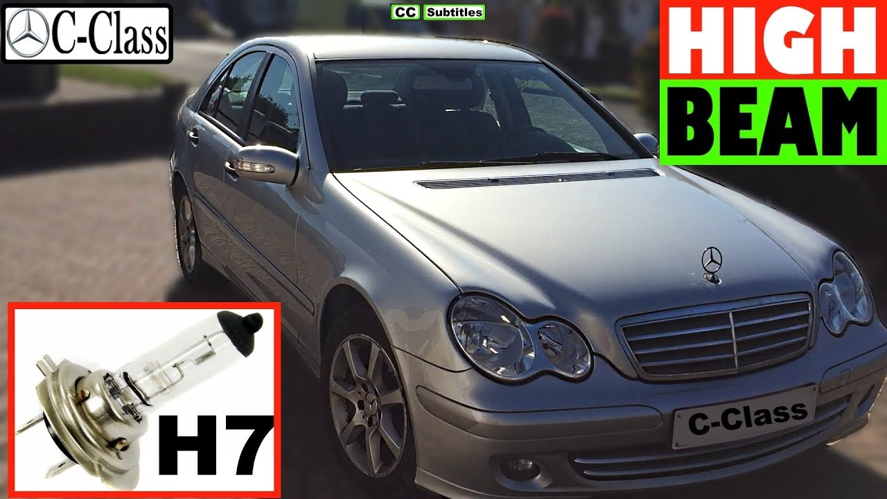 How to replace High Beam Bulb on Mercedes C-Class