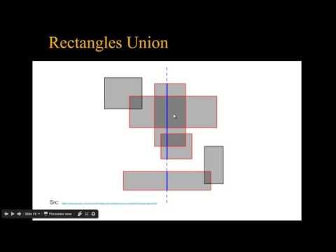 Computational Geometry - Line Sweep - 3 - Rectangles Union (Arabic)