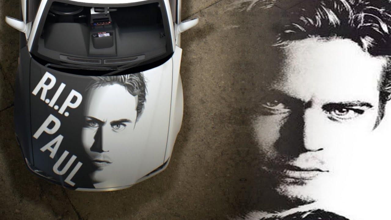 Need For Speed 2015 Speed Painting Vinyl Paul Walker R I P