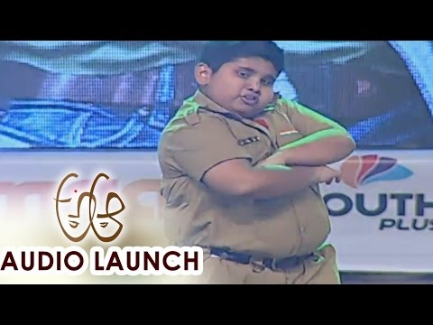 Akshat Singh Performance for Gabbar Singh Song at A Aa Audio Launch    Nithiin, Samantha