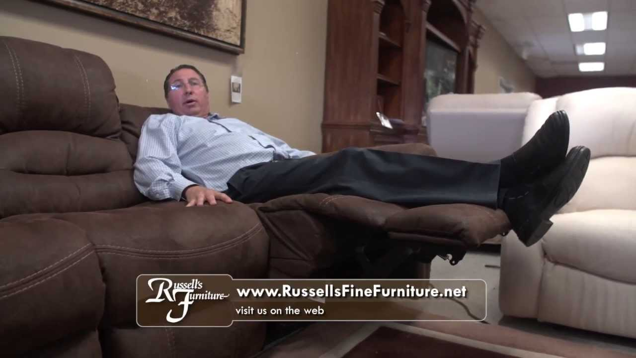 Russellu0027s Fine Furniture   Flexsteel Reclining Sofas   May 2013   YouTube