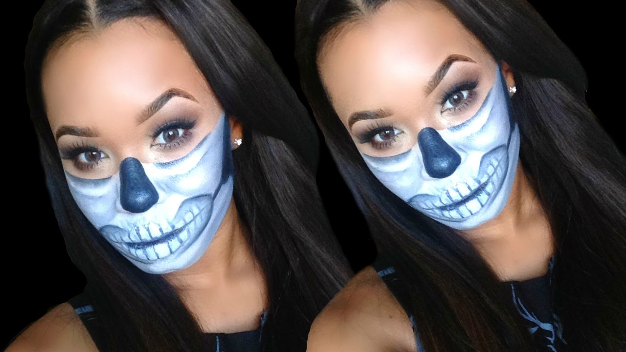 DIY Half Sugar Skull Halloween Makeup Tutorial + Outfit Ideas ...
