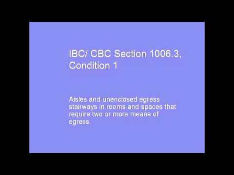 California Building Code Section 1006, Means of Egress Illumination