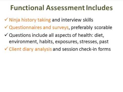 Holistic Health Practitioners Guide to the Art of Functional Assessment