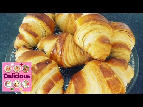 Homemade Croissant Recipe - How to make croissant - French Butter Easy tasty Croissant - Delicious