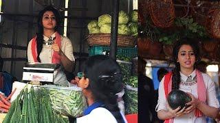 rakul preet singh selling vegetables at kphb market full video