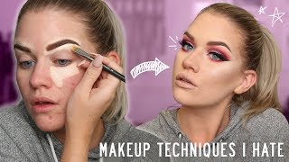 DOING MY MAKEUP USING TECHNIQUES I HATE | Samantha Ravndahl