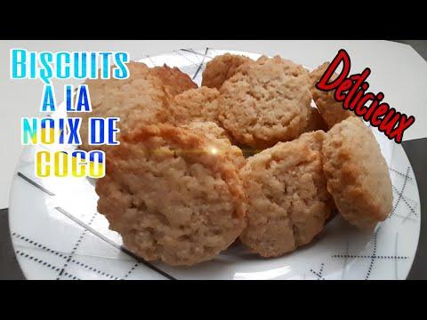 💕-recette-de-petits-biscuits-à-la-noix-de-coco-{sans-oeufs}- -recette-facile-et-rapide-😊🤩💕