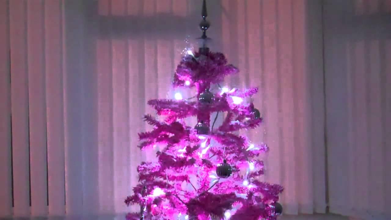 Pink Snowing Christmas Tree