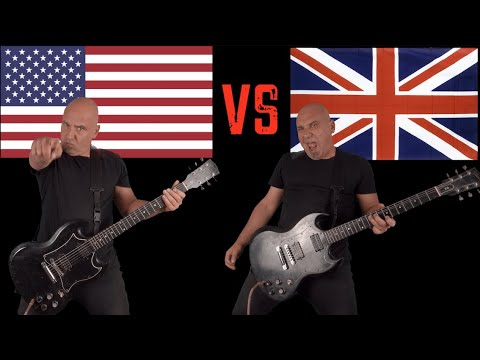 United States of America VS United Kingdom (Guitar Riffs Battle)